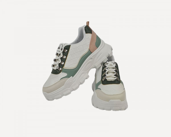 Sneakers con Finiture Rosa...