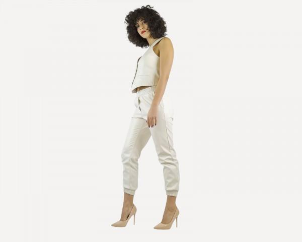 Pantalone Panna in Ecopelle